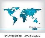 blue geometric world map vector ... | Shutterstock .eps vector #293526332