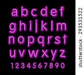 neon glow alphabet. vector... | Shutterstock .eps vector #293531522