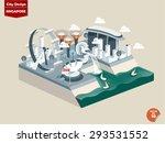 singapore city design in... | Shutterstock .eps vector #293531552