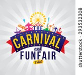 the carnival funfair. vector... | Shutterstock .eps vector #293532308