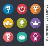 illustration award flat icons... | Shutterstock .eps vector #293538422