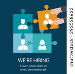 human resources  recruiting  we ... | Shutterstock .eps vector #293538632