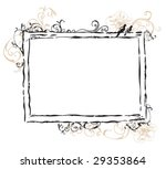 illustration of a retro frame | Shutterstock .eps vector #29353864