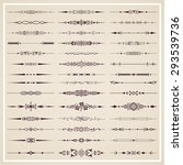 page dividers   vector set | Shutterstock .eps vector #293539736