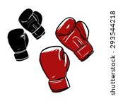 drawing of boxing gloves | Shutterstock .eps vector #293544218
