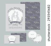 wedding invitation cards | Shutterstock .eps vector #293545682