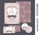 wedding invitation cards | Shutterstock .eps vector #293545688