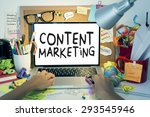 content marketing | Shutterstock . vector #293545946