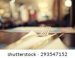 blurred background in restaurant | Shutterstock . vector #293547152