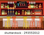 vector bar flat illustration | Shutterstock .eps vector #293552012