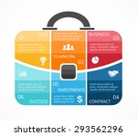 vector briefcase infographic.... | Shutterstock .eps vector #293562296