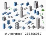 set of residential and  urban... | Shutterstock .eps vector #293566052