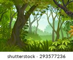 tropical dense forest | Shutterstock .eps vector #293577236