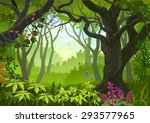 tropical window | Shutterstock .eps vector #293577965
