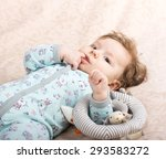 beautiful baby with a lovely... | Shutterstock . vector #293583272