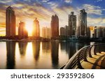 Skyline Of Dubai Marina At...