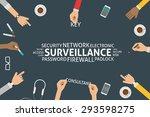 vector surveillance concept...   Shutterstock .eps vector #293598275