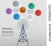 wireless data network... | Shutterstock .eps vector #293601452