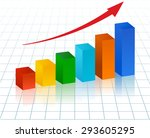 rising bar graph with red arrow   Shutterstock .eps vector #293605295