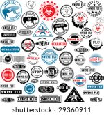 collection of rubber stamps... | Shutterstock .eps vector #29360911