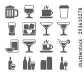 drink alcohol beverage icons set | Shutterstock . vector #293610278