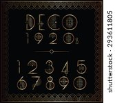 art deco number set in gold | Shutterstock .eps vector #293611805