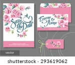 vector set of invitation cards... | Shutterstock .eps vector #293619062