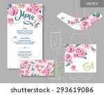 vector set of invitation cards... | Shutterstock .eps vector #293619086