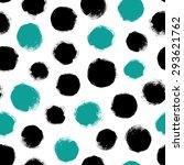 seamless dot pattern. hand... | Shutterstock .eps vector #293621762
