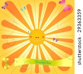 happy sun with a banner for... | Shutterstock .eps vector #29363359