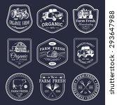 vector retro set of farm fresh...   Shutterstock .eps vector #293647988