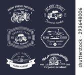 vector retro set of farm fresh... | Shutterstock .eps vector #293648006