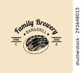 kraft beer logo. old brewery... | Shutterstock .eps vector #293648015