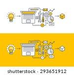 thin line flat design concept... | Shutterstock .eps vector #293651912