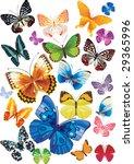 set of butterflies | Shutterstock .eps vector #29365996