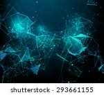 abstract futuristic background... | Shutterstock .eps vector #293661155