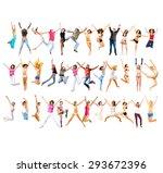 over white big group  | Shutterstock . vector #293672396