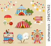 set of country fair objects... | Shutterstock .eps vector #293677652