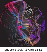 moving colorful lines of... | Shutterstock .eps vector #293681882