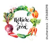 eco food menu background.... | Shutterstock .eps vector #293688098