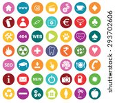round colored round icons with...