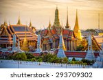 grand palace and wat phra keaw... | Shutterstock . vector #293709302