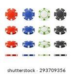 vector illustration casino... | Shutterstock .eps vector #293709356
