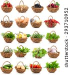 vegetation and food set in a... | Shutterstock . vector #293710952