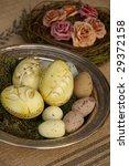 easter eggs and roses | Shutterstock . vector #29372158