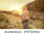 happiness woman stay outdoor... | Shutterstock . vector #293723966