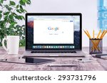 open apple 15 inch macbook pro... | Shutterstock . vector #293731796