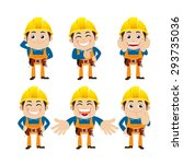 worker characters in different... | Shutterstock .eps vector #293735036
