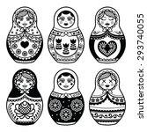 Matryoshka  Russian Doll Icons...