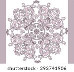 classic style circular ornament.... | Shutterstock .eps vector #293741906